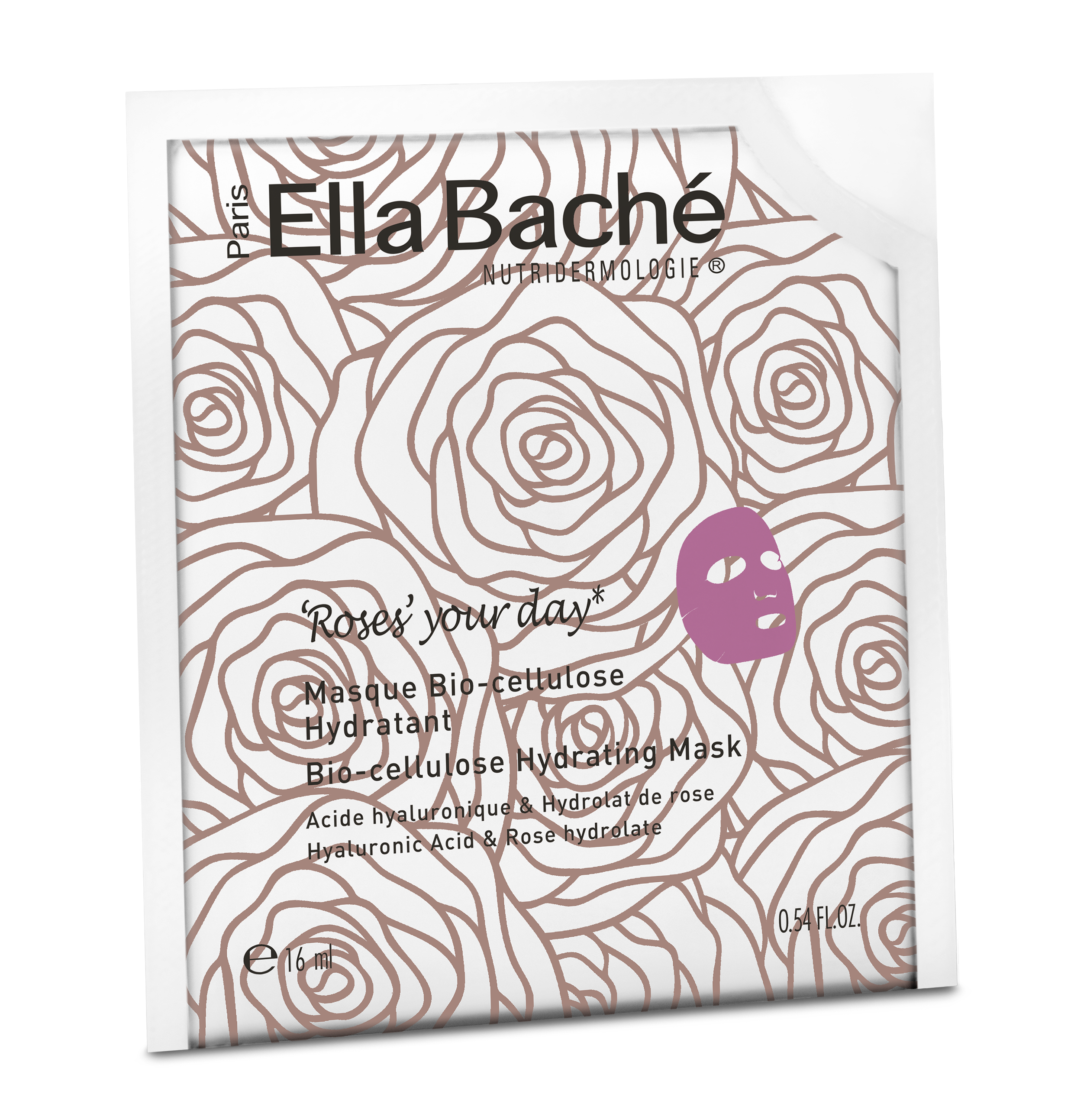 Roses hidra sheet  maska na biocelulozi, box 5 kom